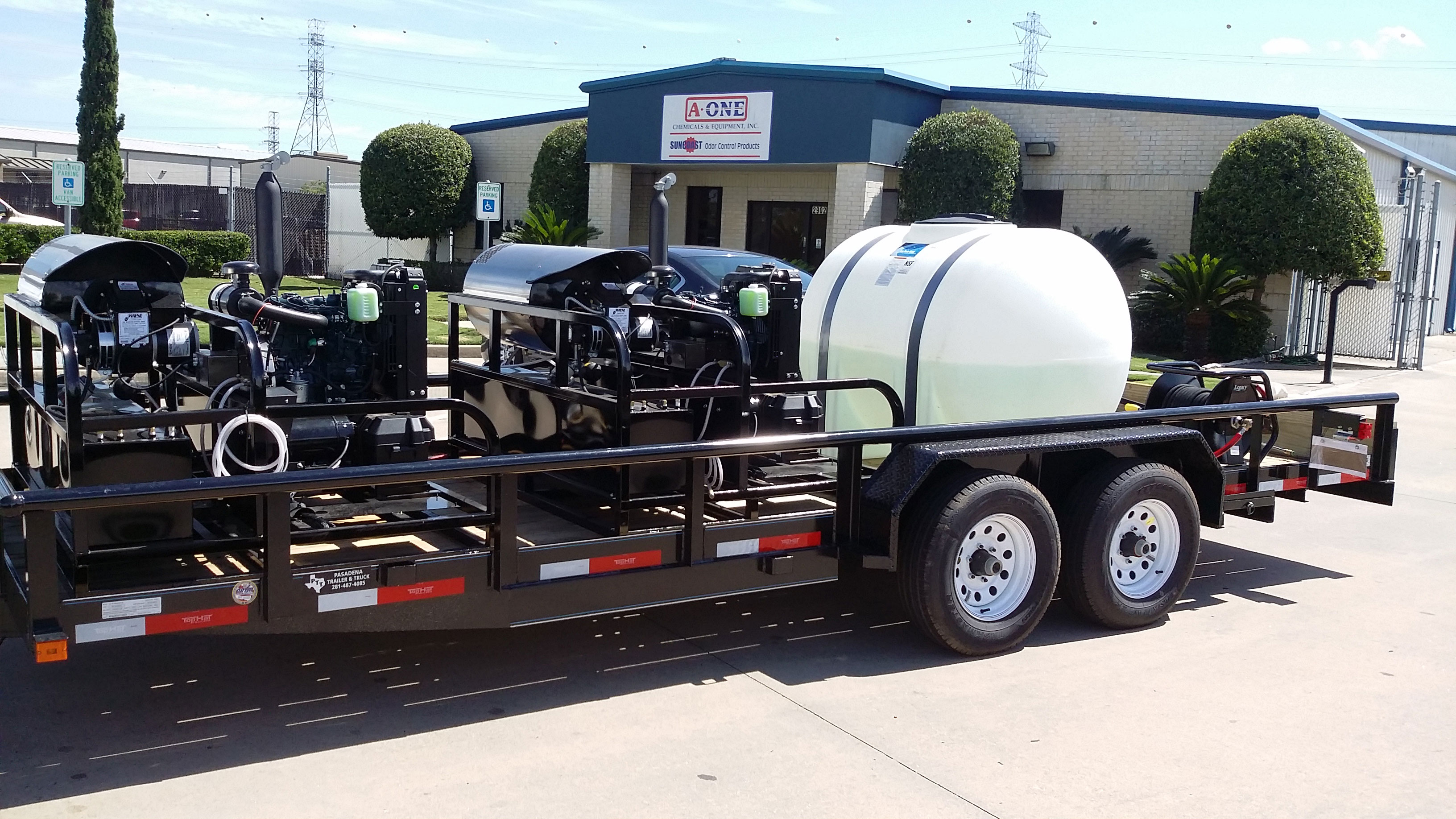 Trailer Mounted Pressure Washer Commercial Trailer